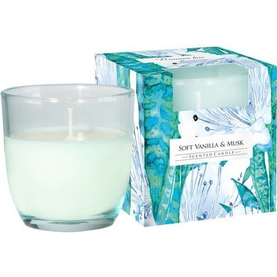 Bispol scented candle glass in box 100 g - Soft Vanilla & Musk
