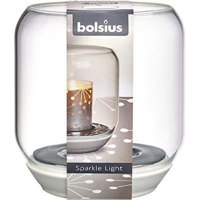 Bolsius Sparkle Light candle holder 130/121 mm - Transparent