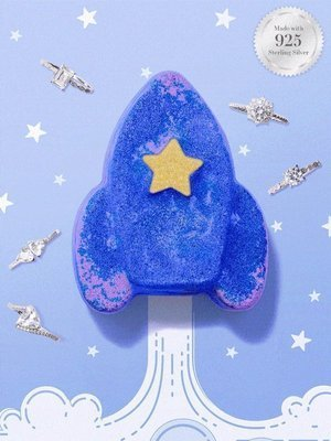 Charmed Aroma Rocket jewel bath bomb with Silver Ring