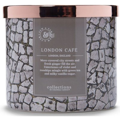 Colonial Candle Travel large soy scented candle 3 wicks 14.5 oz 411 g - London Café