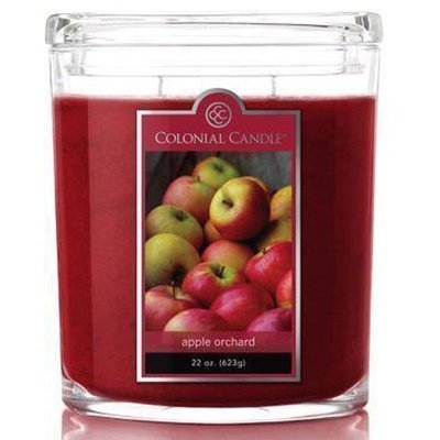 Colonial Candle large scented oval jar candle 22 oz 623 g - Apple Orchard