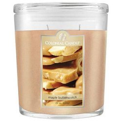 Colonial Candle large scented oval jar candle 22 oz 623 g - Maple Butterscotch