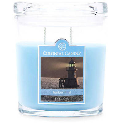 Colonial Candle medium scented oval jar candle 8 oz 226 g - Harbor Mist