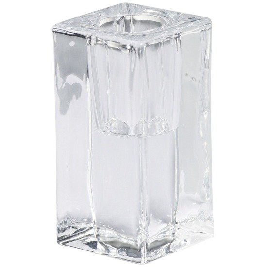 Bolsius transparent glass dinner candle holder 40/80 mm