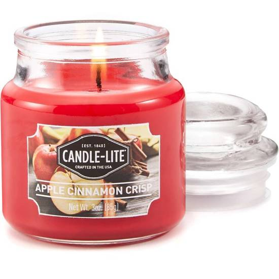 Candle-lite Everyday small scented candle in a glass jar 3 oz 85 g - Apple Cinnamon Crisp