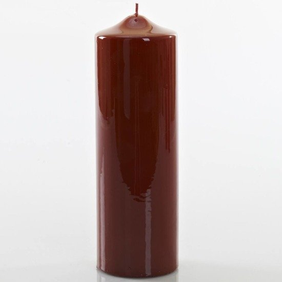 Meloria Candela di Lusso Candelotto Classic luksusowa bordowa świeca dekoracyjna pieńkowa słupek 240/80 mm - Bordeaux