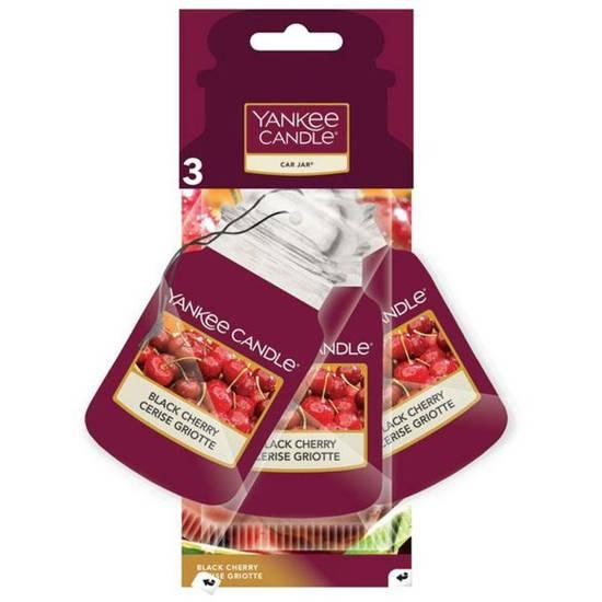 Yankee Candle Car Jar car fragrance set of 3 - Black Cherry