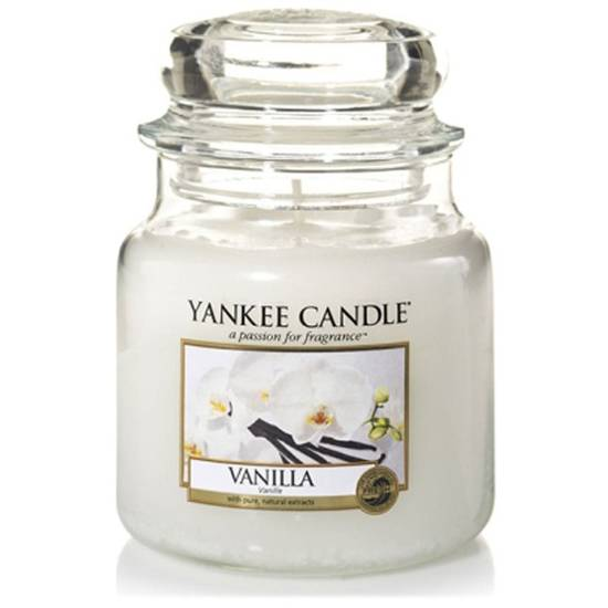 Yankee Candle medium scented candle in a glass jar 14,5 oz 411 g - Vanilla