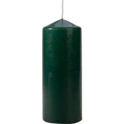 Bispol świeca bezzapachowa bryłowa pieńkowa słupek 150/58 mm - Butelkowa zieleń