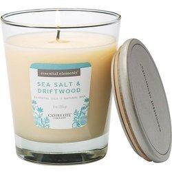 Candle-lite Essential Elements świeca zapachowa sojowa w szkle z olejkami eterycznymi 255 g - Sea Salt & Driftwood