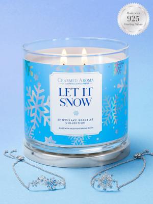 Charmed Aroma sojowa świeca zapachowa z biżuterią 12 oz 340 g Bransoletka - Let It Snow