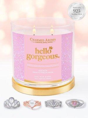 Charmed Aroma sojowa świeca zapachowa z biżuterią 12 oz 340 g Pierścionek - Hello Gorgeous