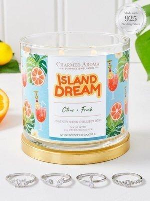 Charmed Aroma sojowa świeca zapachowa z biżuterią 12 oz 340 g Pierścionek - Island Dream