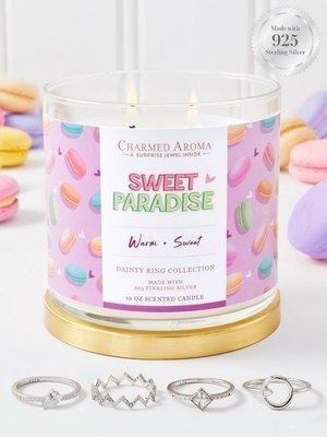 Charmed Aroma sojowa świeca zapachowa z biżuterią 12 oz 340 g Pierścionek - Sweet Paradise