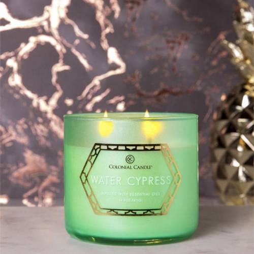 Colonial Candle Luxe sojowa świeca zapachowa w szkle 3 knoty 14.5 oz 411 g - Water Cypress