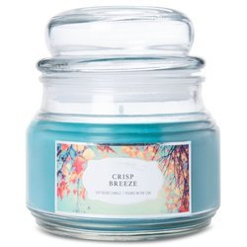 Colonial Candle niebieska świeca zapachowa w szklanym słoju 9 oz 255 g - Crisp Breeze