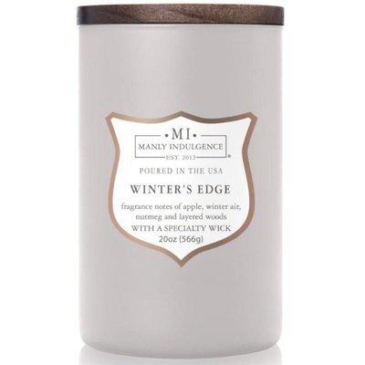 Colonial Candle sojowa świeca zapachowa w szkle drewniany knot 20 oz 566 g - Winter's Edge
