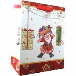 Gabryel torebka prezentowa świąteczna upominkowa dekoracyjna 320/260/120 mm TS03C-M - Santa