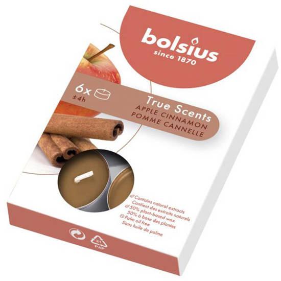 Bolsius True Scents podgrzewacze tealights zapachowe 6 szt - Jabłko & Cynamon Apple & Cinnamon