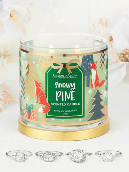 Charmed Aroma sojowa świeca zapachowa z biżuterią 12 oz 340 g Pierścionek - Snowy Pine