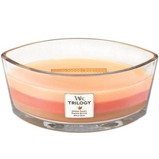 WoodWick Core Heartwick Trilogy Candle świeca zapachowa sojowa w szkle łódka trójzapachowa ~ 60 h - Autumn Comforts