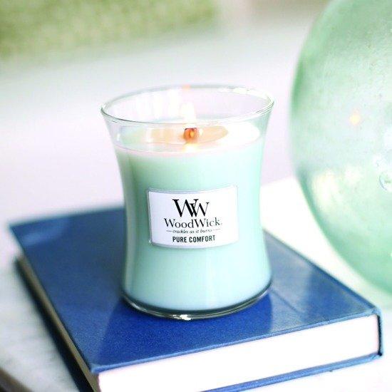 WoodWick Core Medium świeca zapachowa sojowa w szkle 100 h - Bergamot & Basil