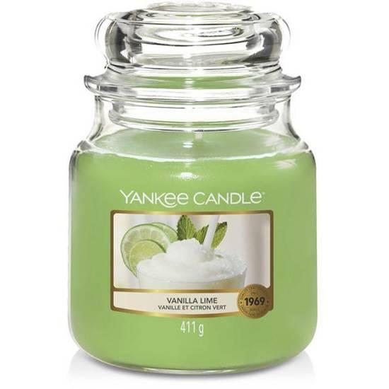 Yankee Candle średnia świeca zapachowa w szklanym słoju 14,5 oz 411 g - Vanilla Lime
